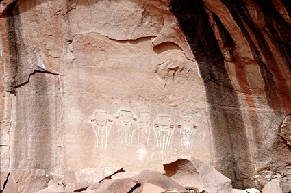 Davis Canyon Pictographs - Five Faces